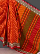 Orange Printed Printed Cotton Saree - Kamal Sarees