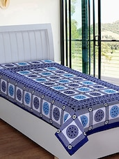 blue cotton bed sheet set -  online shopping for bed sheet sets