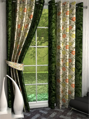 K Décor Set 0f 4 Beautiful Polyester Window Curtains