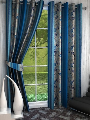 K Décor Set of 6 Beautiful Polyster Window Curtains