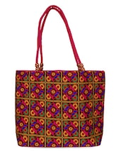 Multi Colour Canvas Tote Bag - Womaniya