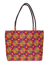 Multi Colour Canvas Tote Bag - Womaniya - 1094995