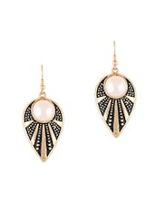 Drop Share Pearl Embellished Earrings - CIRCUZZ