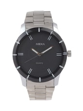 ROUND DAIL SILVER ANALOG WATCH -  online shopping for Analog Watches