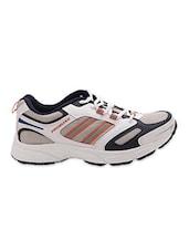 White & Black Lace Up Mesh Sports Shoes - Prozone