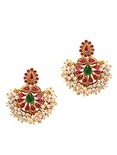 Traditional Moti Beads Cluster Earrings - Alankruthi