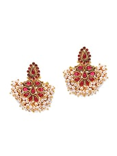Hanging Beads Cluster Earrings - Alankruthi