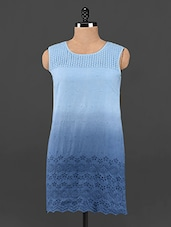 Ombre Schiffli Cotton Shift Dress - Femenino