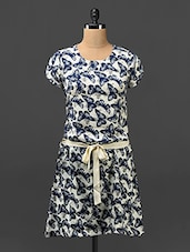 Butterfly Printed Casual Poly-crepe Dress - Trend Arrest