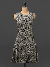 Animal Print Sleeveless Poly-crepe Dress - Trend Arrest