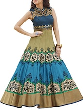blue banglori silk dress -  online shopping for Dresses