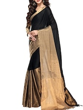 black & gold cotton saree -  online shopping for Sarees