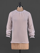 Raglan Sleeve Long Sleeve Georgette Top - OSHEA