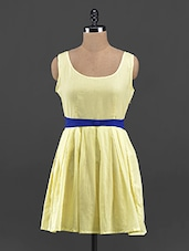 Yellow Fit & Flare Dress - Guster Ve..