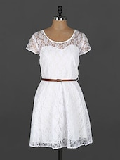 White Lace Dress - Xniva