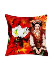 Lady & Flower Digitally Printed Cushion Cover - Mesleep