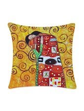 Hug Couple Digitally Printed Cushion Cover - Mesleep