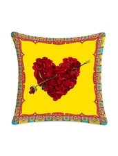 Heart With Petals Digital Printed Cushion Cover - Mesleep