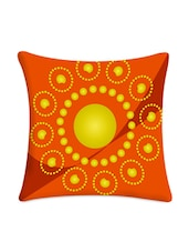 Yellow Circle Digital Printed Cushion Cover - Mesleep