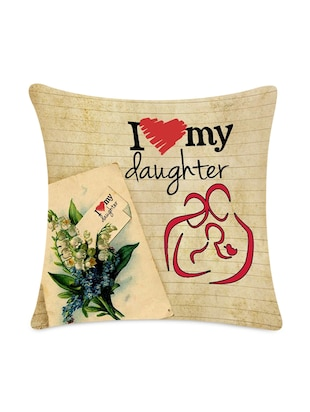 """I Love My Daughter"" Quoted Cushion Cover"
