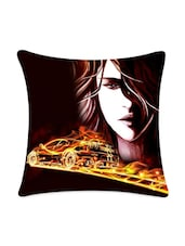 Face With Running Car Digital Printed Cushion Cover - Mesleep
