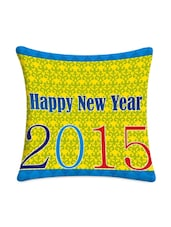 Happy New Year 2015 Printed Cushion Cover - Mesleep