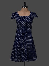 Polka Dot Print Dress - Color Fuel