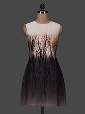 Sleeveless Printed Polycrepe Dress - Color Fuel