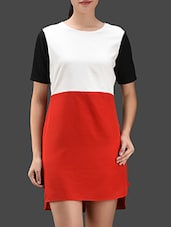 Color Block Poly-crepe Dress - Color Fuel