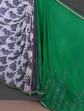 Printed & Embroidered Georgette Saree - Saara