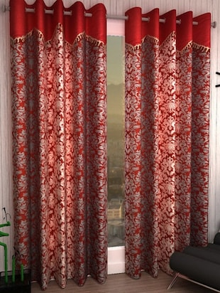 K Décor Set of 2 Valance Style Window Curtains