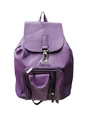 purple leatherette backpack -  online shopping for backpacks