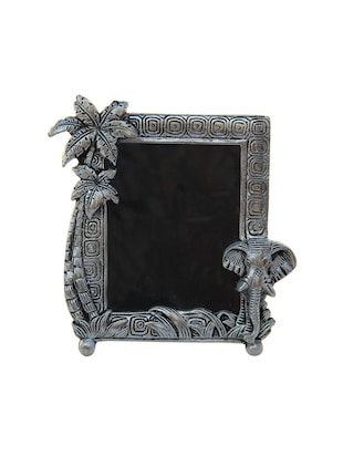 Photo Frame with elephant face and coconut tree in Metal