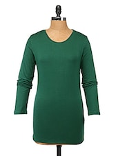 Green Cotton Lycra Full-sleeve Top - Change360��