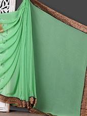 Green Lace Border Saree - Khushi