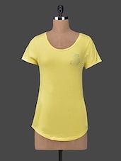 Short Sleeves Cotton Knit Tee Shirt - Sera