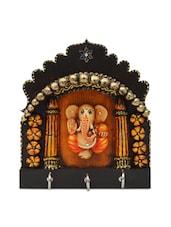 Multicoloured Ganesha Key Hanging Stand - Artwork