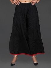 Black Rayon Palazzo - Inblue Fashions