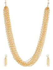 Golden Metal Alloy Necklace - By