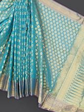 Turquoise Art Silk Saree - Prabha Creations