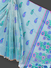 Blended Silk And Net Tissue Saree - Prabha Creations