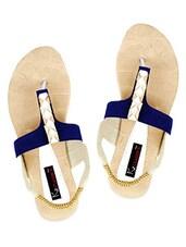 Elastic Sling Back Metal Trim Embellished Flat Sandal - KZ Classics