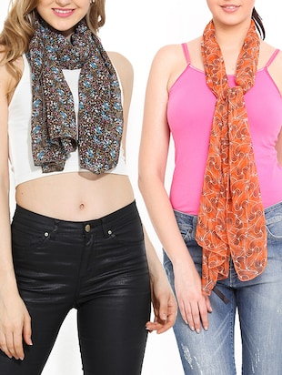 multi colored polyester scarf