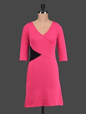 Quarter Sleeves Colour Block Dress - The Vanca