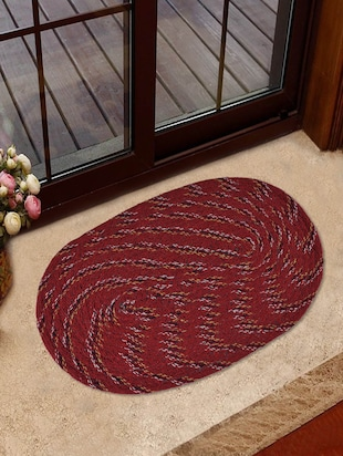 Oval shaped door mat