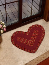 Red Heart Shaped Door Cum Bath Mat - Firangi