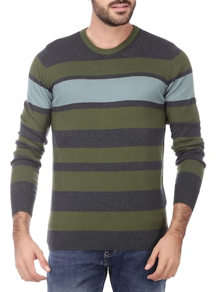 green cotton pullover