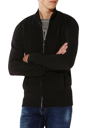 black cotton pullover -  online shopping for Pullovers