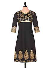 Block Printed Long Cotton  Kurta - D'ETHNO