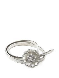 Dainty Flower Stretch Metal Belt - ROSETTA'S 11059